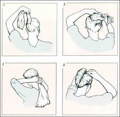 прическа ракушка инструкция